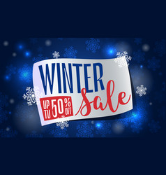 winter final sale concept banner cartoon style vector image