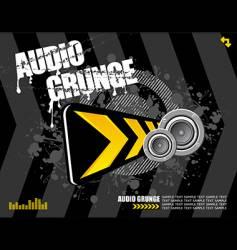 audio grunge vector image vector image