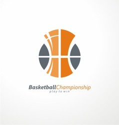 Basketball championship logo idea vector image