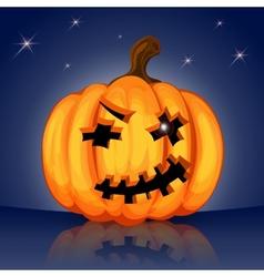 Evil scary Halloween pumpkin vector image vector image