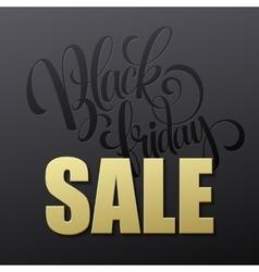 Golden Black Friday sale lettering background vector image vector image