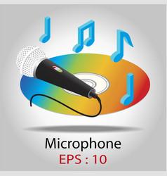 microphone for karaoke vector image vector image