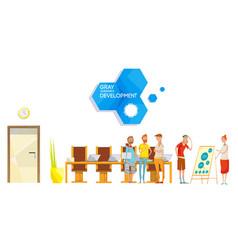 Software development meeting composition vector