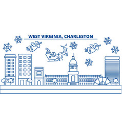 usa west virginia charleston winter city vector image vector image