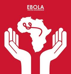 ebola design vector image