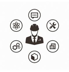 Icon set engineer vector image
