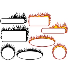 Set of Fire Banners vector image