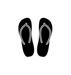 slippers icon black sign on vector image