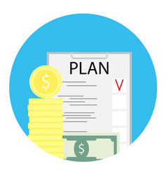 Business plan icon finance vector