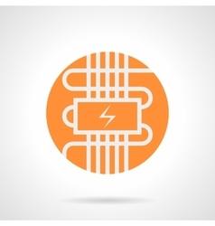 Orange electric warm floor round icon vector image vector image