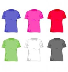 women tshirt vector image