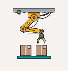 Factory robotic arm vector image vector image