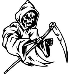 grim reaper - halloween set - vector image vector image