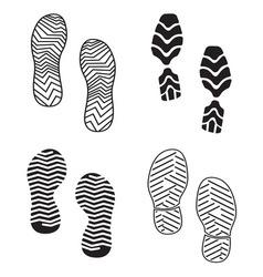 New foot print set resize vector