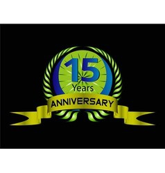 15 year Anniversary celebration vector
