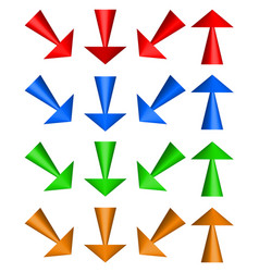 3d arrows up down and diagonal directions vector image