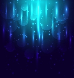 Abstract blue light and bokeh glowing background vector image