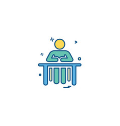 Administrative desk reception icon desige vector