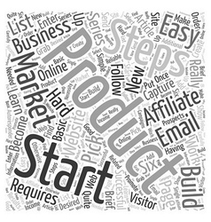 Affiliate Marketing How to get started in easy vector image