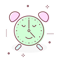 alarm clock retro icon vector image