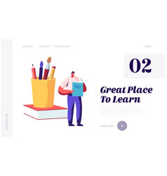 back to school knowledge website landing page vector image