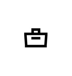 bag icon symbol sign vector image