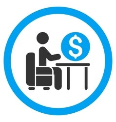 Banker Office Rounded Icon vector image