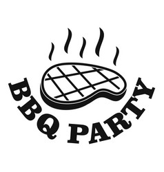 bbq party logo simple style vector image