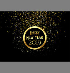 beautiful 2019 happy new year sparkles and vector image
