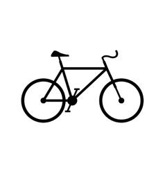 bike silhouette icon vector image