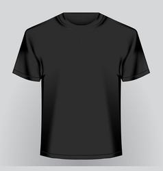 Black empty t-shirt vector
