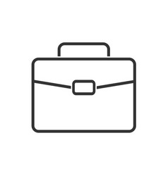 briefcase line icon on a white background vector image