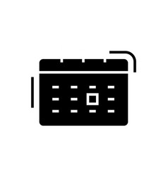 calendar icon black sign on vector image