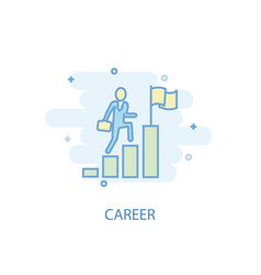 career line concept simple line icon colored vector image