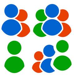 character icon set group gathering organization vector image