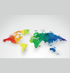color world map vector image