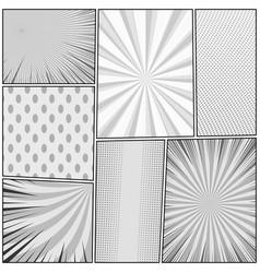 Comic page monochrome concept vector