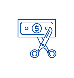 Cost optimization line icon concept cost vector