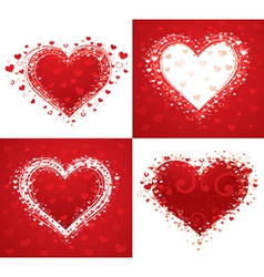 decorative love hearts vector image vector image