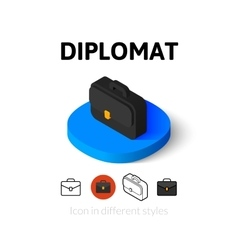 Diplomat icon in different style vector image