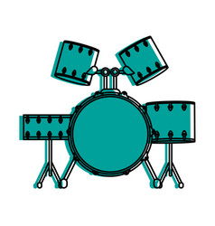 drum set musical instrument icon image vector image