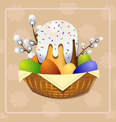 Easter cake christian holiday orthodox easter vector