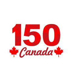 fireworks on canada 150 vector image