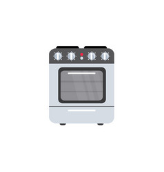 flat style front view picture of electric stove vector image