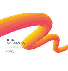 fluid abstract curve design on white background vector image