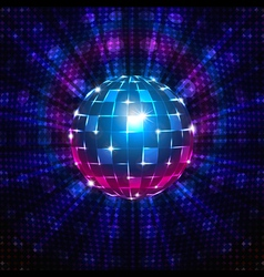 Fluorescent disco ball vector image