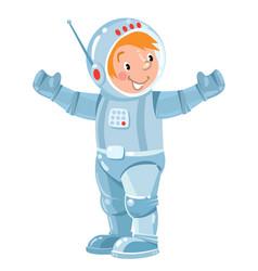 funny boy cosmonaut or astronaut vector image