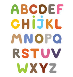 Funny colorful cartoon alphabet alphabetical vector