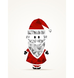 Geometric contemporary Santa Claus vector