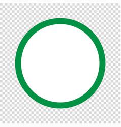 green circle icon vector image